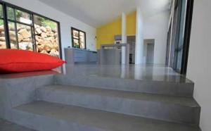 workshop beton ciré - woonkamer